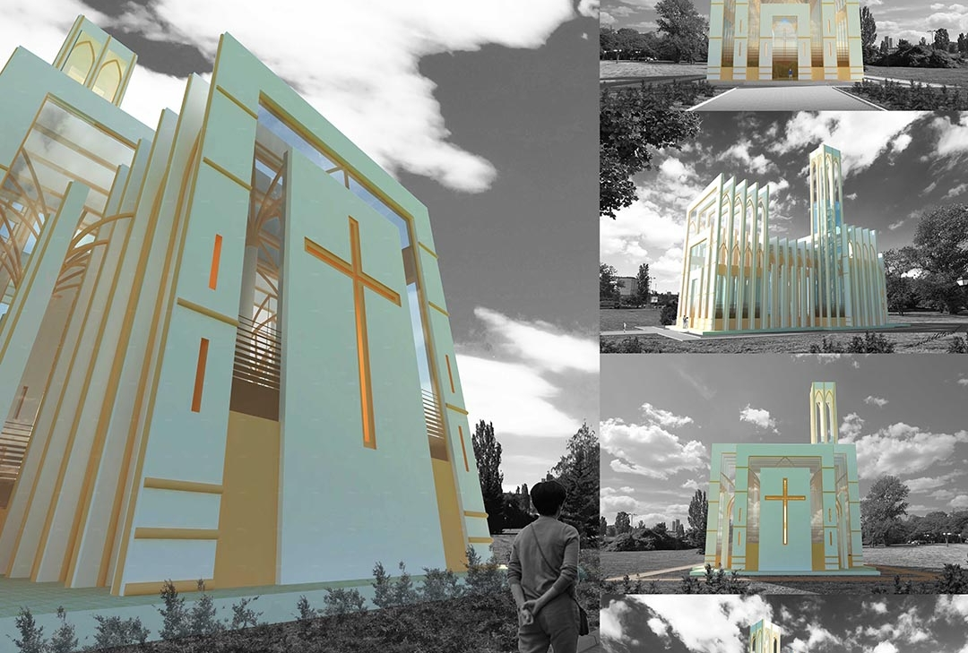 Sharp Contrast 3d realistic visualizations church