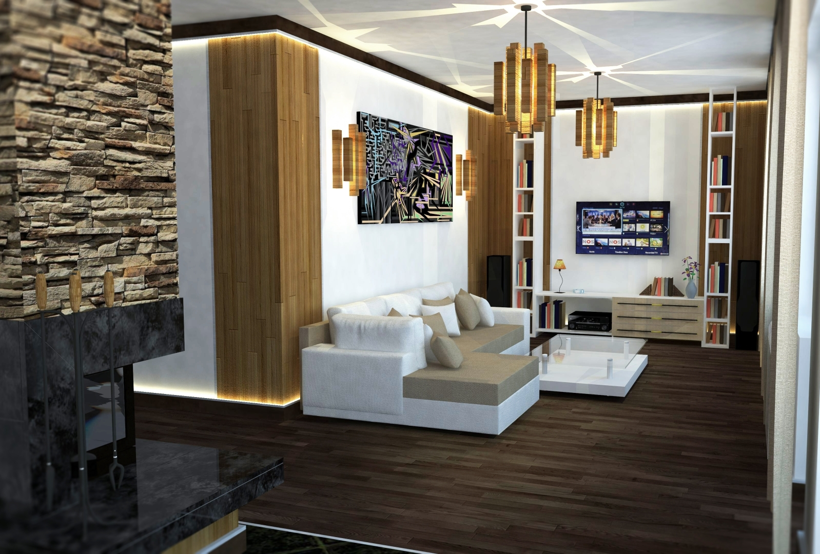 Sharp Contrast 3d realistic visualizations interior residential