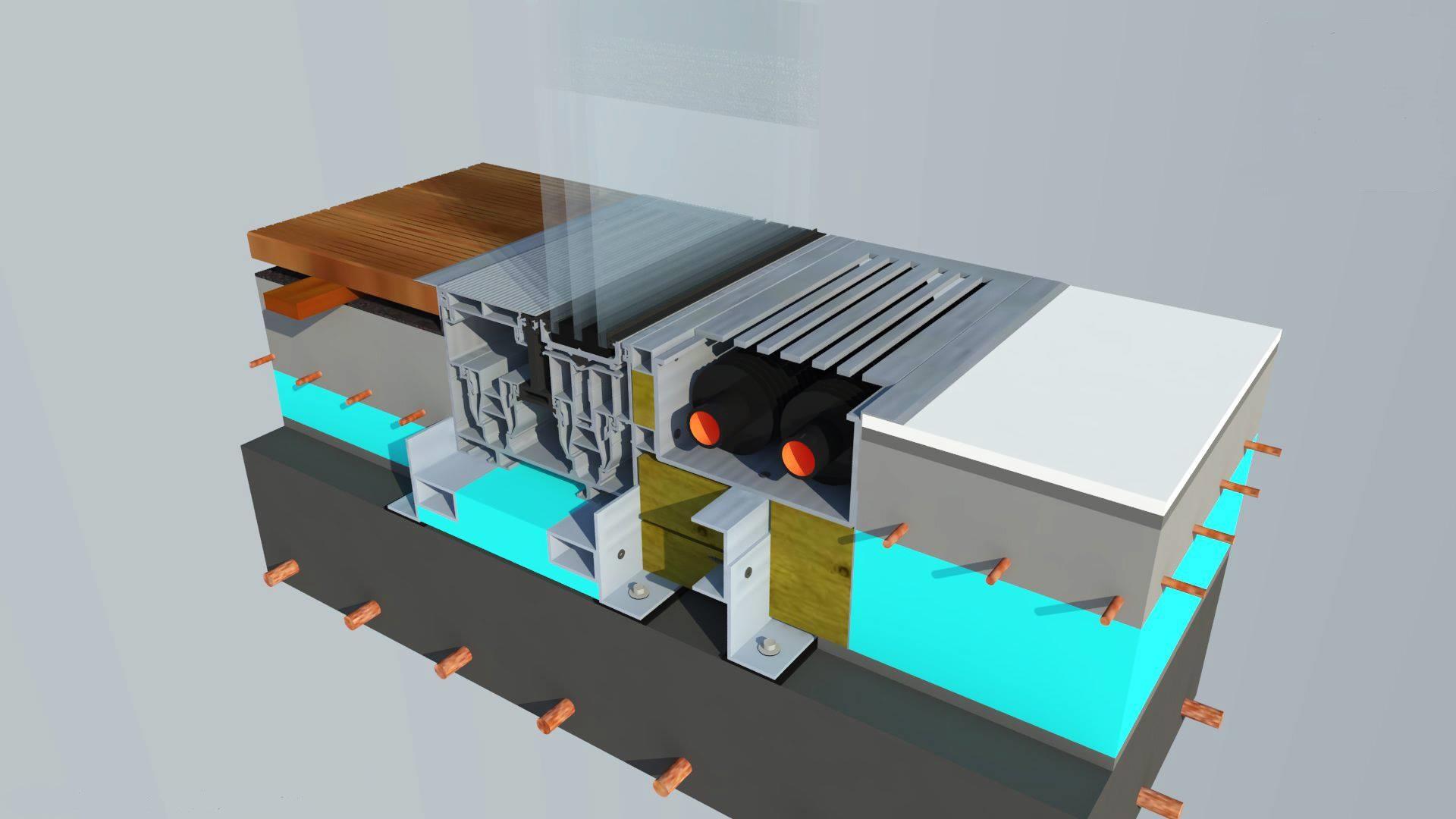 Schüco ASS 77 PD.HI 3D Floor Detail Erich Milenov