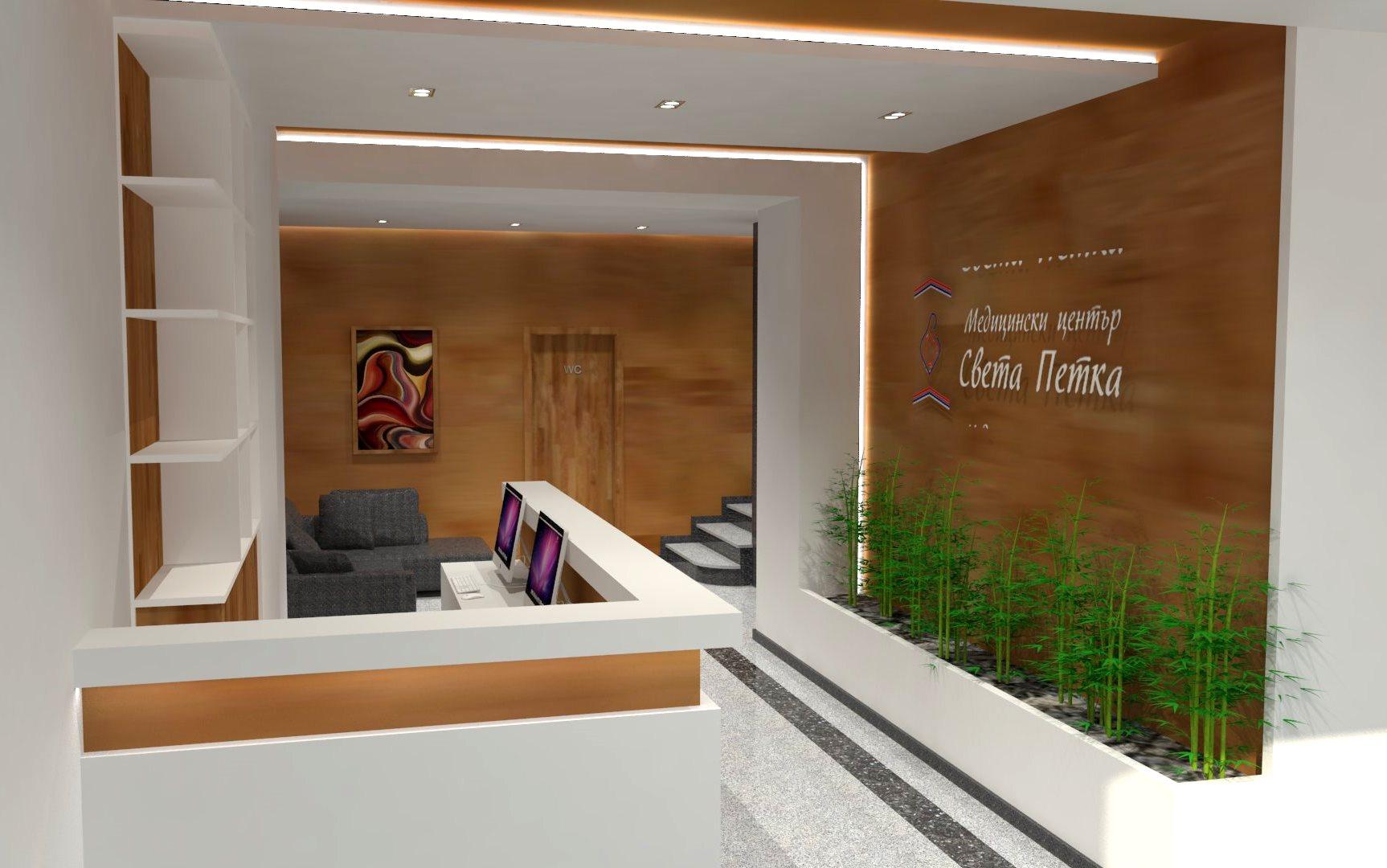 Sharp Contrast 3d realistic visualizations interior medical center ovcha kupel sofia