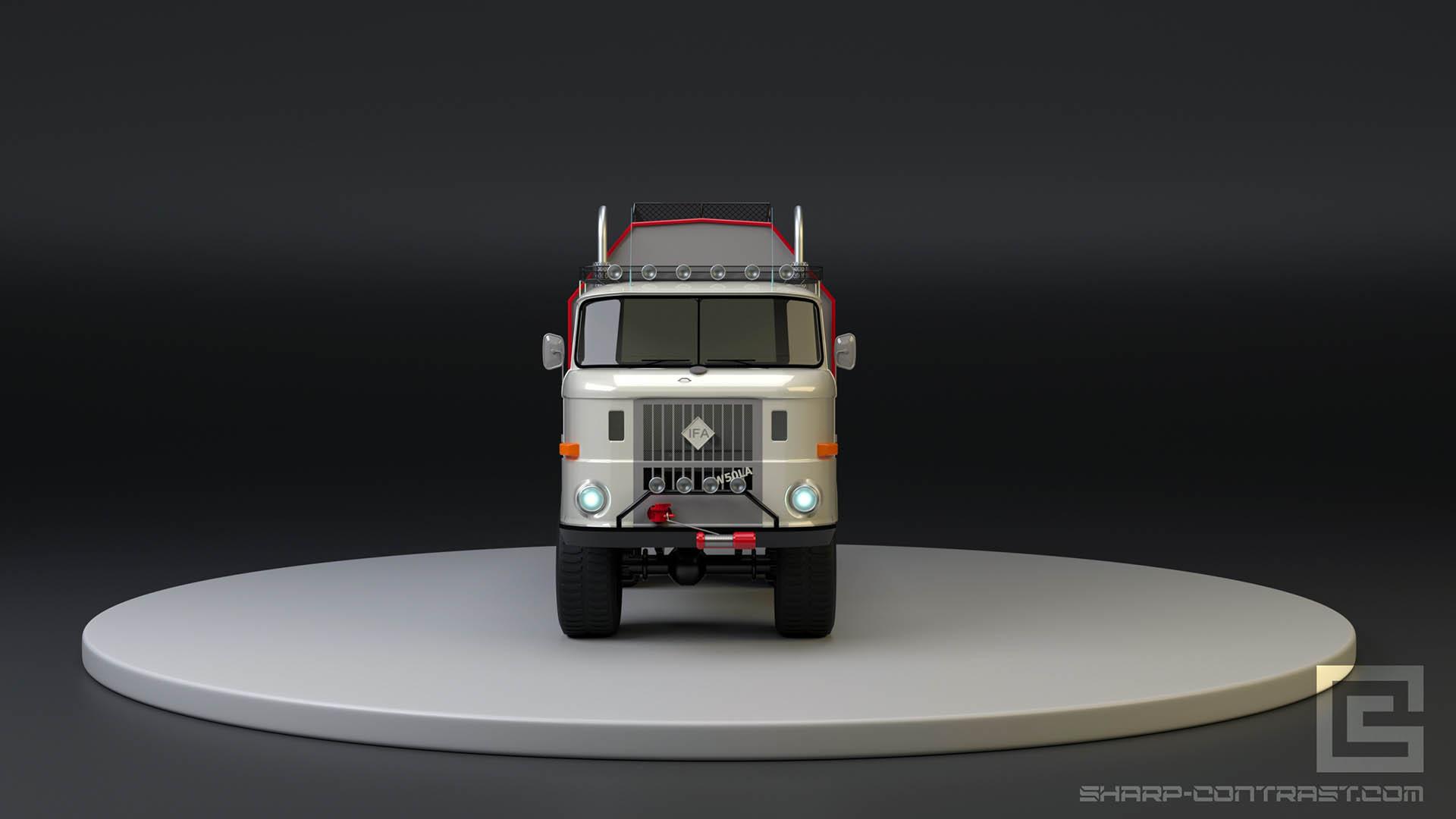 IFA b50l realistic 3d model