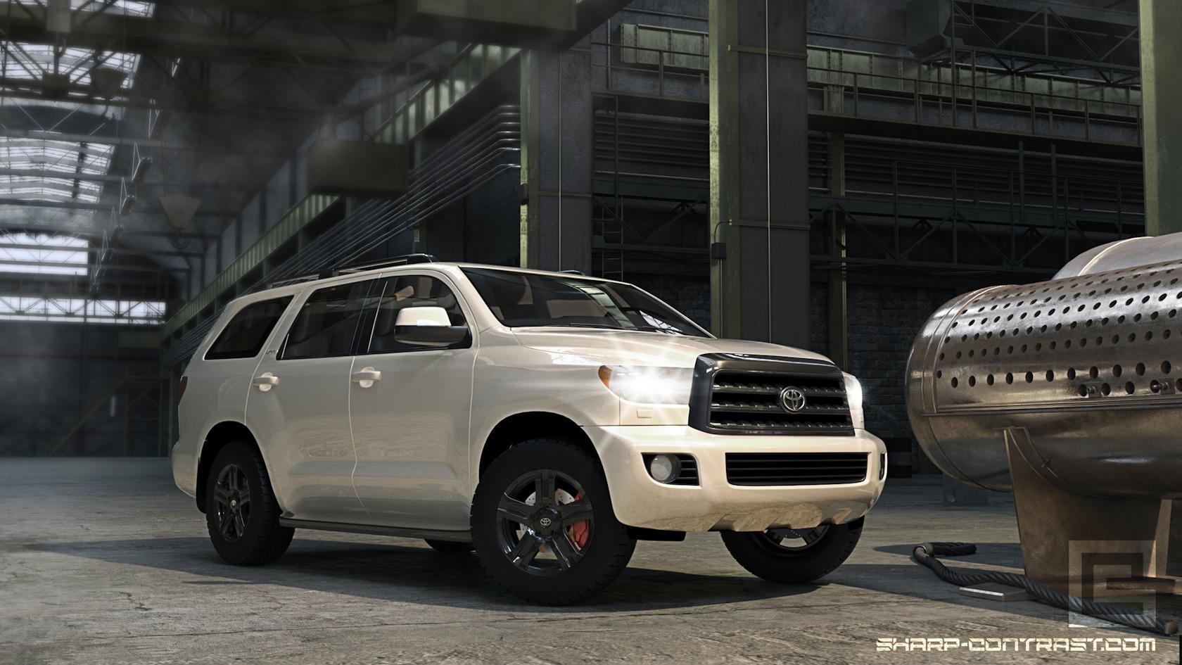 Toyota realictic render sharp contrast