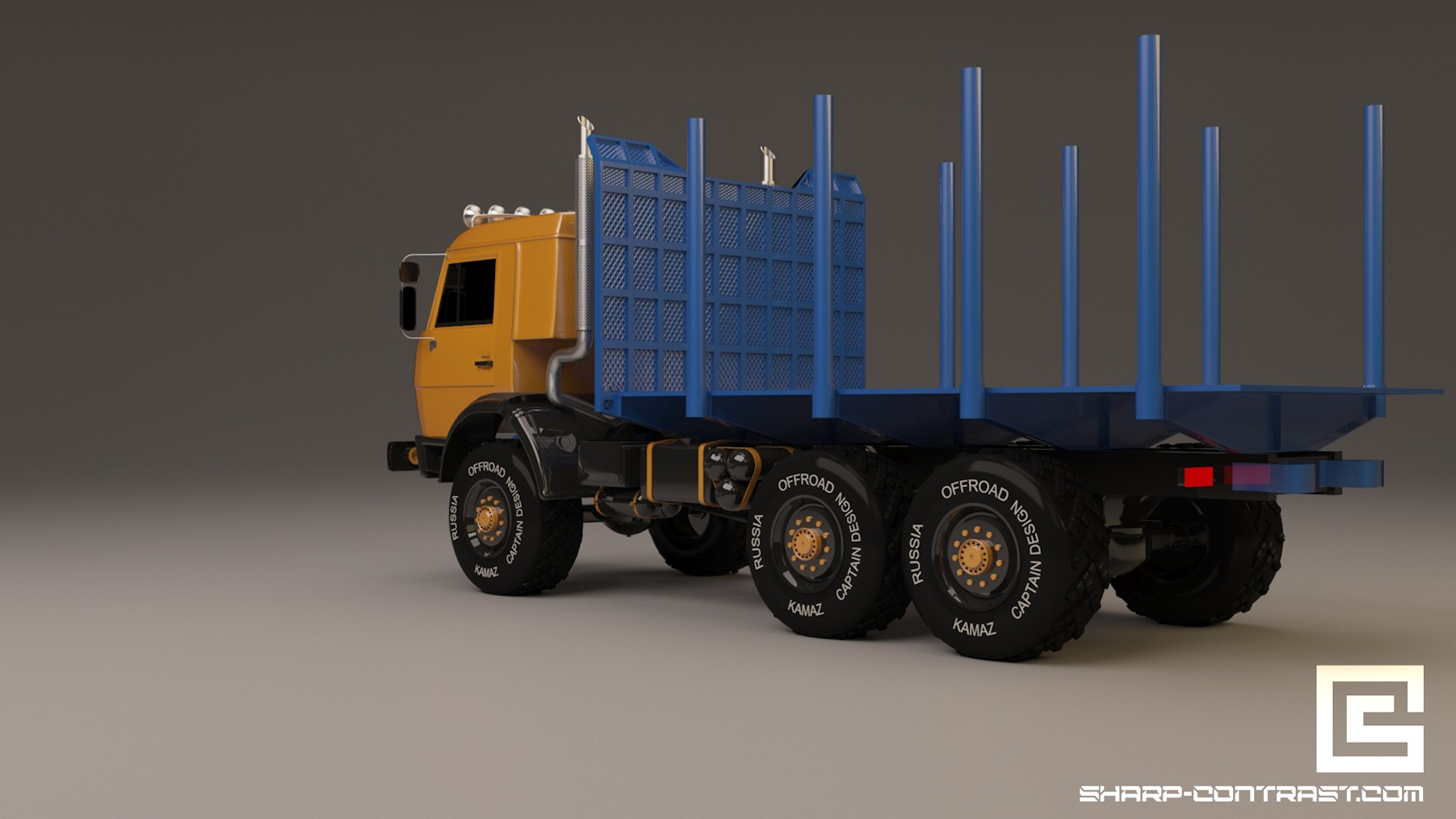 Mighty Russian Kamaz realictic 3D model