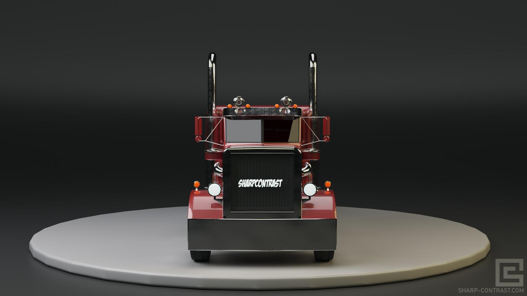 Realistic 3D Model of Peterbilt 359 Truck
