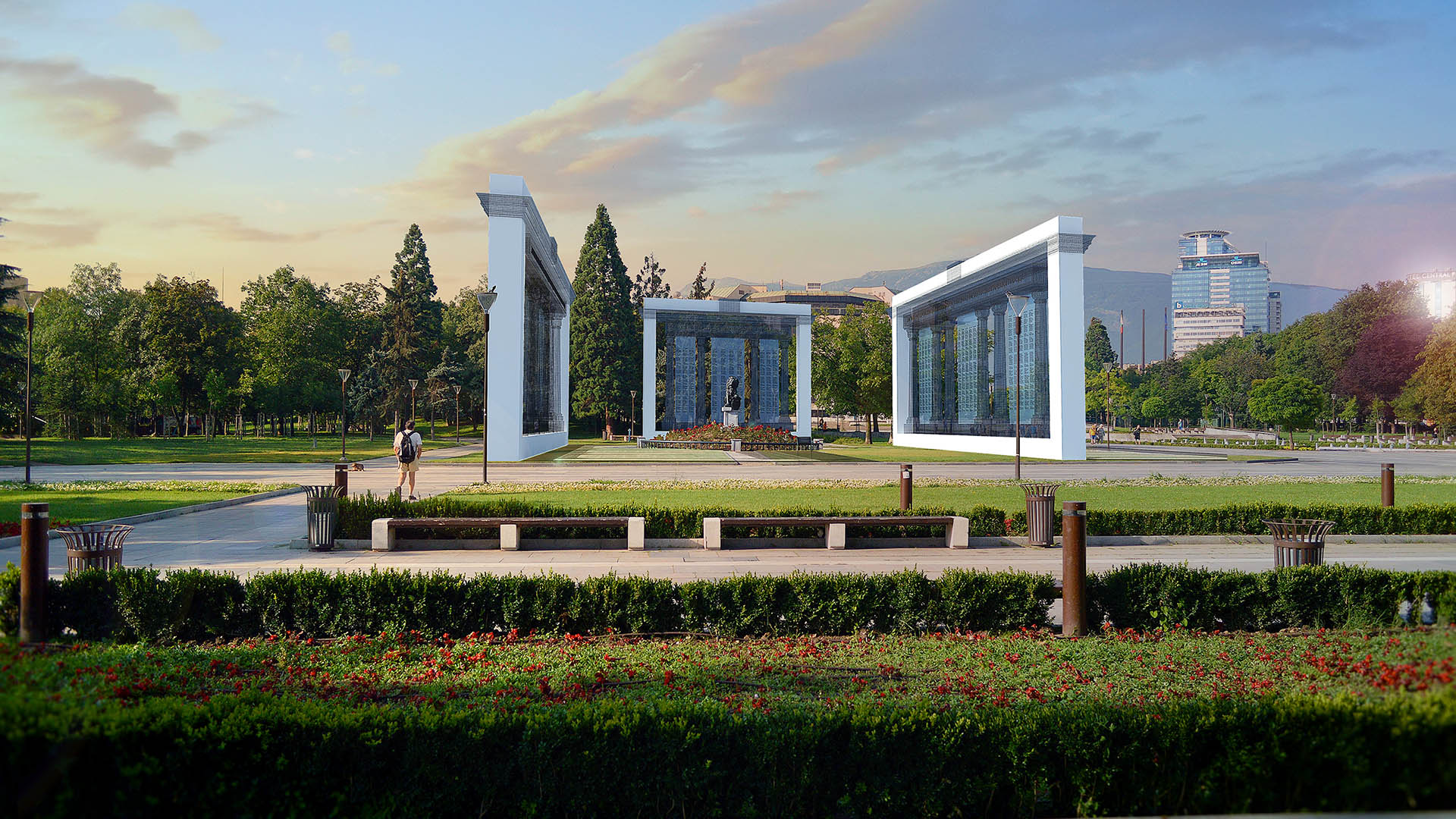 monument-erich-milenov-krasimir-kapitanov-vyzstanovqvane-pametnik-pyrvi-shesti- pehotni-polkove-sofia-ndk-architect-project